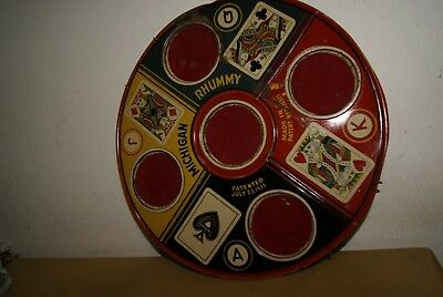 Antique Michigan Rhummy Tin Tray, From The 40´s