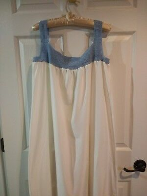 Antique Vintage Lady's Night Gown Crocheted Bodice