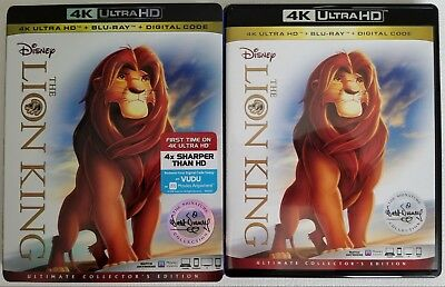 Disney The Lion King 4K Ultra Hd Blu Ray 2 Disc Set + Slipcover Sleeve Free Ship