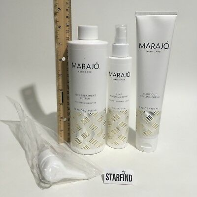 MARAJO Hair Care 3-IN-1 Finishing Spray, Deep Treatment Butter, Blow Out SEE...