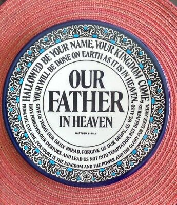 """Armenian Ceramic pottery plate Handmade Wall hanging ethnic - Our Father 8"""""""