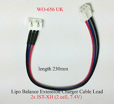 Lipo Balance Extension Charger Cable Lead 2s JST-XH (2 cell, 7.4V)  x3 pcs