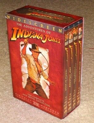 The Adventures of Indiana Jones: The Complete DVD Movie Collection - WIDESCREEN