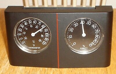 Small Generic Wall or Desk Weather Station Thermometer & Humidity - Works Great