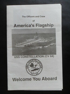United States Navy USS CONSTELLATION (CV-64) Welcome aboard c1994