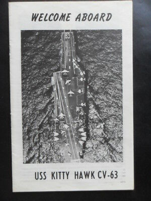 United States Navy USS KITTY HAWK (CV-63) Welcome aboard c1984
