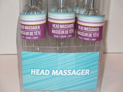 Hand Held Head & Scalp Massager - Octopus Style Scratcher Stress Relief Relaxing