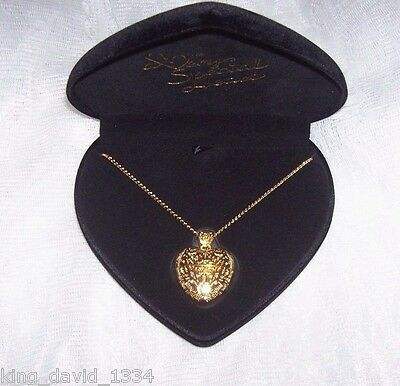 GOLDEN VICTORIAN NECKLACE BLACK HEART BOX USB FLASH DRIVE New