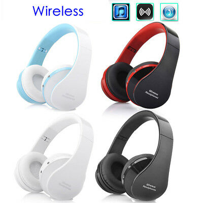 USA Wireless Bluetooth Noise Cancelling Stereo Sports Foldable Ear-Cup Headphone
