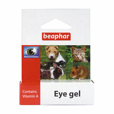 Beaphar Eye Gel with Vitamin A Lubricates Dry Dusty Irritated Eyes for Dogs Cats