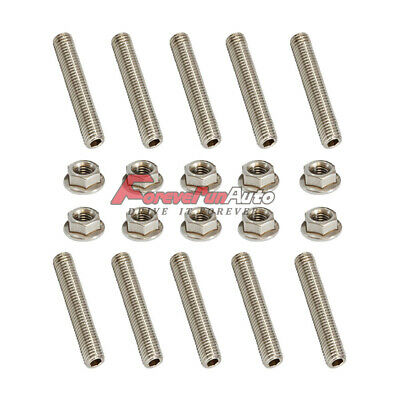 10x Exhaust Manifold stud /& 10x Bolts kit for Ford F-150 4.6 5.4 6.8 V8 V10 US