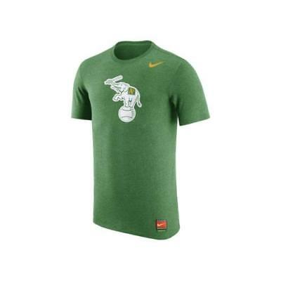 782780c7f $32 Nike Men's Oakland Athletics Retro Logo Tri-Blend Short-Sleeve T-Shirt