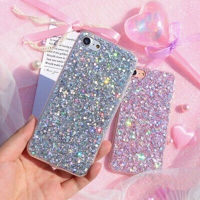 Bling Glitter Sparkle Protective Slim Case Cover For iPhone XS XR MAX 8 7 6 Plus