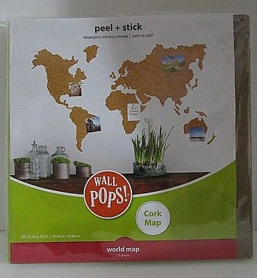 WORLD MAP KIDS Wallpops Laminated Dry Erase With Pen 61Cm X 91.5Cm ...