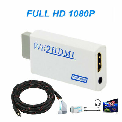 WII to HDMI WII2 Converter Adapter Full HD1080P 3.5mm Audio Output & 2M HD Cable