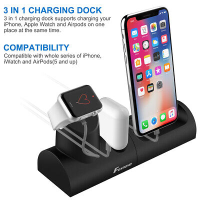 3 in1 Charging Dock Stand Station Charger Holder For Apple Watch iWatch iPhone