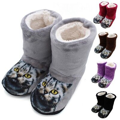 Women Winter Warm Plush Floor Cotton Boots Indoor Home Slippers Soft Soled Shoes