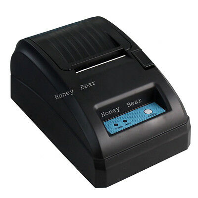 58mm POS Thermal Receipt Printer Black (USB RS232) Office + Free Paper Roll