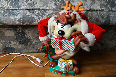 Taz Christmas Decor Animated Arms Sold As Is Tasmanian Devil Looney Tunes 1996