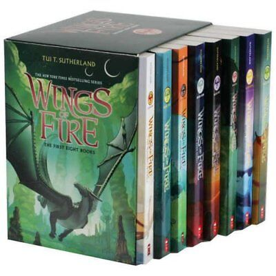 Wings of Fire Box Set,  Books 1-8 by Tui T. Sutherland (2nd Printing, June 2019)