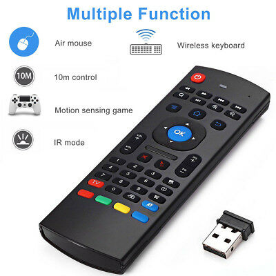 MX3 2.4Ghz Wireless Air Fly Mouse+Keyboard Remote Control Android TV PC Laptop