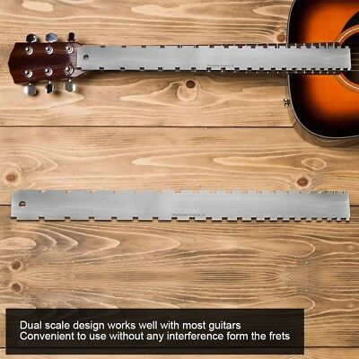 Guitars Neck 24.75 Notched Ruler Gadget Luthiers Tool Fret Board Straight Edge