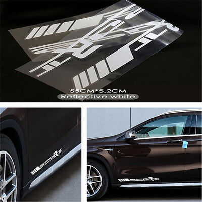2PCS Sport Side Door Racing Vinyl Decal Stickers Left & Right For Car/SUV/Truck