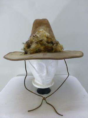 Boot Hill feather hat band Cowboy Hat western rodeo rancher mens sz M 7 7 1 123de7523ee3