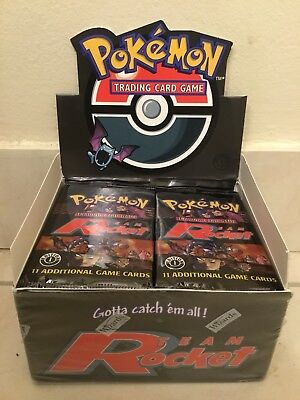 Pokemon TEAM ROCKET 1st Edition Booster Pack (1) from NEWLY OPENED BOOSTER BOX