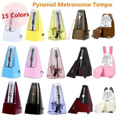 Mechanical Pyramid Metronome Tempo for Musicians Piano Guitar Wind- up LJ