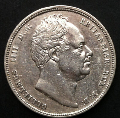 1834  WILLIAM IV Sterling .925 SILVER HALFCROWN - WW in Block - EXTREMELY FINE