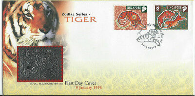 Singapore first day cover depicting year of the Tiger 1998