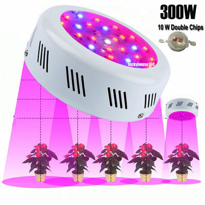 300W LED Grow Light Pro Full Spectrum Hydroponics Veg For Plant Grow Lamp UFO