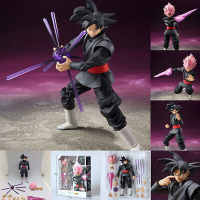 6'' Dragonball Z S.H.Figuarts Goku Gokou Black Super Saiyan Rose Action Figure