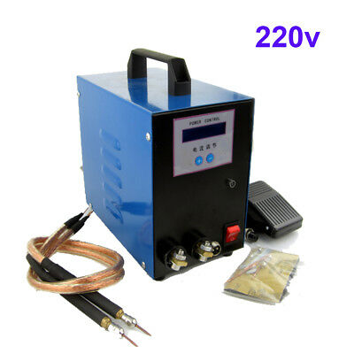 220V 18650 Battery Point Spot Welder Welding Machine w/Pedal 0.01-0.25mm New