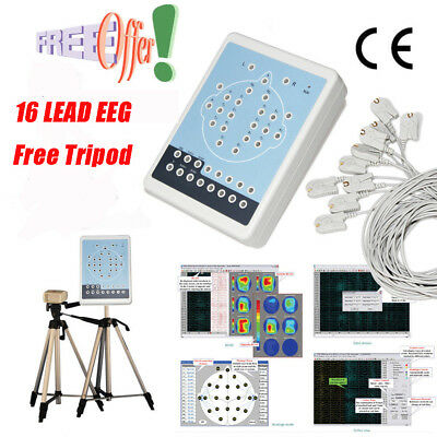 EEG 16 Channel Digital EEG And Mapping System Brain Electric Activity + 2 Tripod