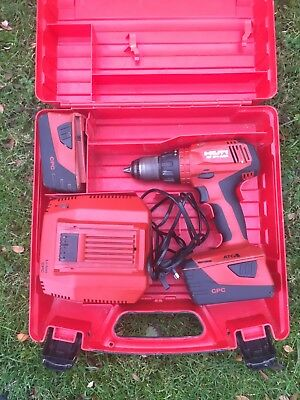 hilti Sf-6h Hammer Drill Driver Two Batterys 5.2ah Charger In Case