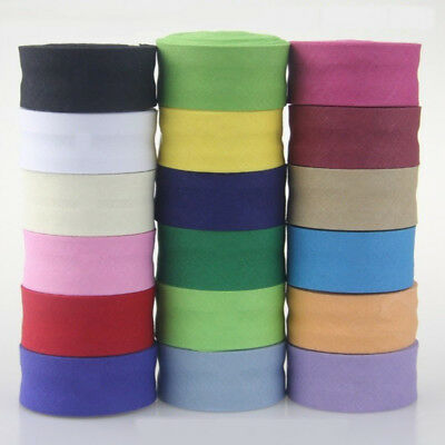 100% Cotton Double Fold Bias Binding Tape 25mm Wide 1 Inch 5 Metres 32 Colours