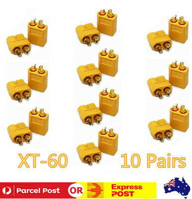 20Pcs 10 Pairs XT60 Male Female Bullet Connectors Plugs For RC LipoBattery AU