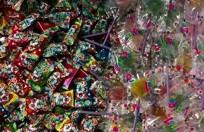 1000 Teile Clown Bonbon/ Lolli Pop Lutscher Mix ! Wurfmaterial Karneval Fasching
