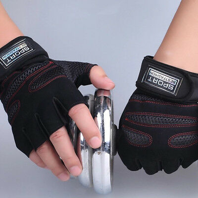 Weight Lifting Workout Exercise Gym Body Building Fitness Training Gloves Sports