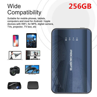 iRecadata i8 256GB 2.4GHz WiFi Type-C SSD Solid State Drive 300Mbps For Win10 AM