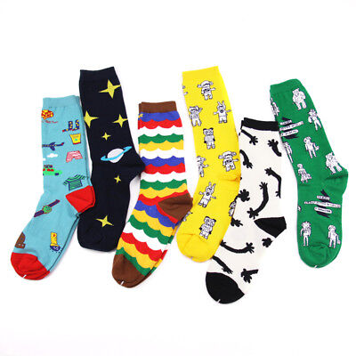 Mens Women Cotton Socks Casual Creative Long Fashion Funny Soft Novelty Socks