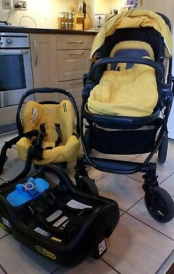 Graco Evo Travel System Pushchair & Car Seat Yellow, + Manual ~Collect Stafford