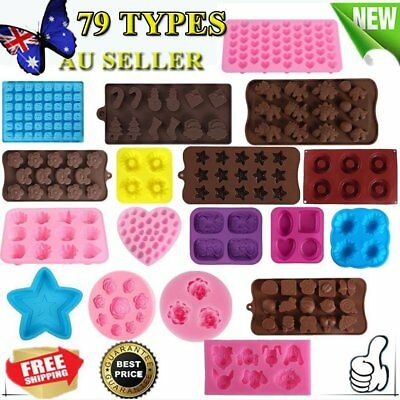 Multi DIY Silicone Cake Decorating Moulds Candy Cookies Chocolate Baking Mold QR