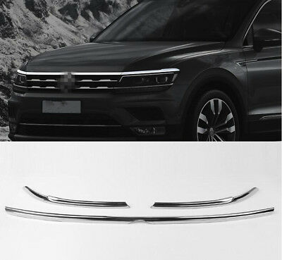 Car Engine Hood Lip With Eyebrow / Eyelid Trim For VW Tiguan MK2  2017 2018 2019