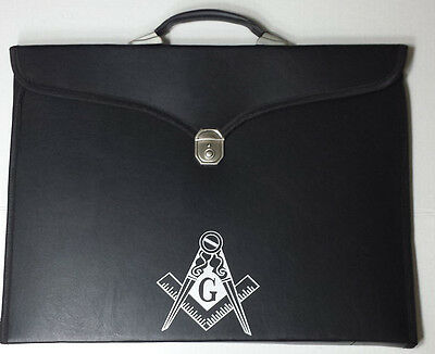 Masonic Regalia Special Features Brifecase with G Logo for Apron & Chain Collar