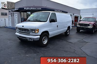 2001 Ford Econoline Cargo Van XL 1500 2001 Ford E250 Econoline White XL work cargo Van. Clean florida van ready 4 work