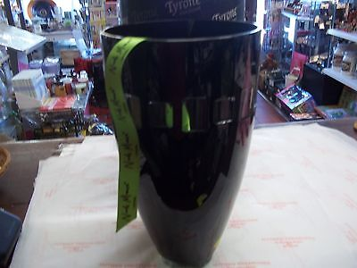 "Tyrone Crystal Nick Munro Eclipse Squares 14"" Vase Black  BNIB"