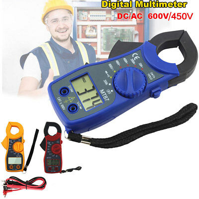 Clamp Multimeter Digital On Meter DC AC Voltmeter Auto Range Ohm Volt Amp Tester